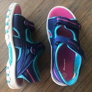 Champion size 2 Velcro adjustable sandals